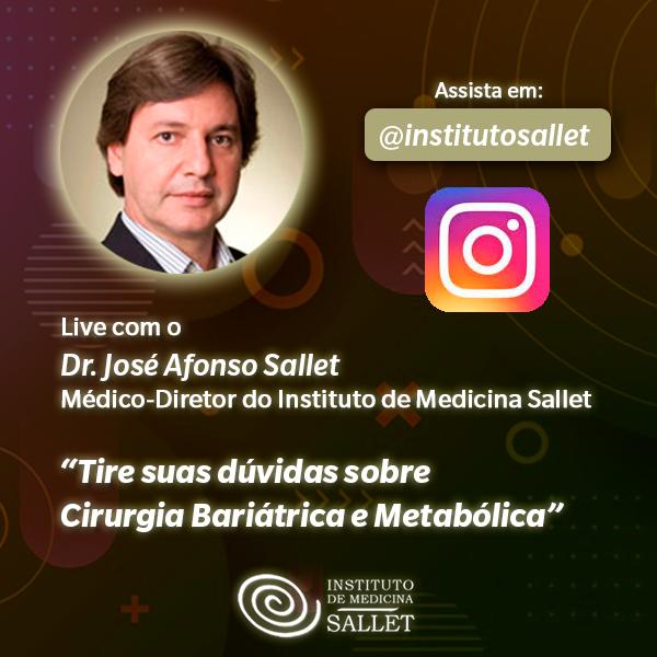 Assista a live com o Dr. José Afonso Sallet